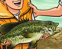 Illustration for Kayak Fish Magazine
