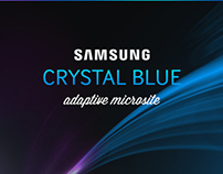 Samsung Crystal Blue Microsite