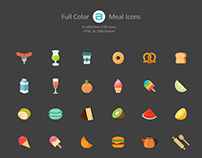 All You Can Eat... Full Color Flat Icon Set
