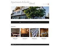 Apartments website with responsive design