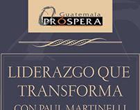 Guatemala Prospera, diseño invitación y cabecera FB