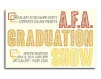 A.F.A. Graduation Show Card