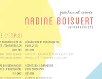 CV d'une infographiste