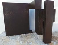 Escultura de acero macizo. Autor Frutos María.