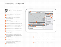 iPad Wireframes for Car Care Tablet App