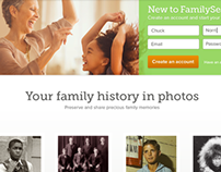 FamilySearch Logged-Out App Pages