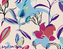 Warhol's flower, Sofa Fabric