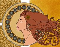 Art Nouveau and Alphonse Mucha. I love it.