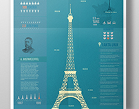 Eiffel Tower - Infographic Poster