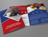 Logistic Company Brochure Bi Fold Template Vol.3