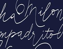 El día que me quieras - Calligraphy