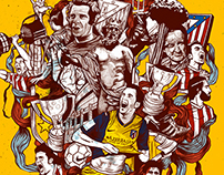Atletico de Madrid Editorial Illustrations