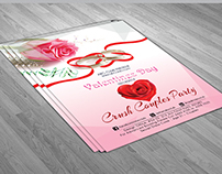 valentines night couples party flyer