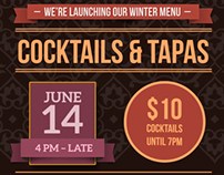 Kremlin Bar Winter Menu Launch Poster