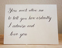 Mr. Darcy | Pride and Prejudice Quote Card for Etsy
