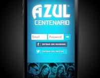 Azul Centenario social app
