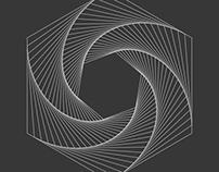 Hexagonal Print XII