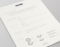 Resume Template | PSD | Version 2
