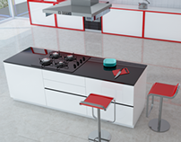 Red Kitchen C4D