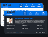 Blue Vcard Psd Template