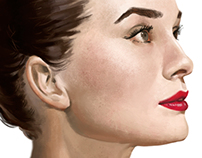 Audrey Hepburn painting.