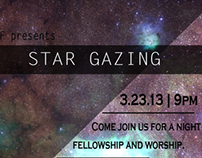 Star Gazing Fundraiser Flyer