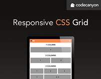 Responsive HTML5 CSS Grid Template
