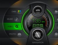Car Navigation GUI (2010)