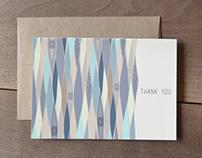 Ocean Eye Pattern - Thank you card set