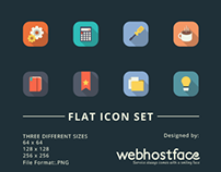 Free Long Shadow Flat Icon Set