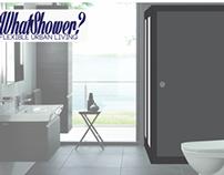 """WhatShower?""  - Space Saving Shower Cubicle"