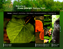 Kuala Selangor Nature Park (Website Homepage Design)