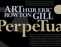 A Typographer Poster - Eric Gill, Perpetua