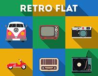 Retro Flat (Free PSD)