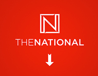 The National. One Page Website Design