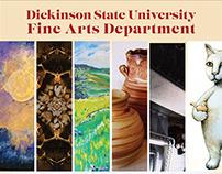 DSU Visual Art Faculty Art Show Postcard