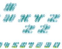Typohole. Axonometry font 1. Eexperiment.Vector, glyphs