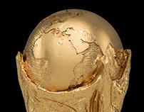 Brazil World cup trophy model Zbrush