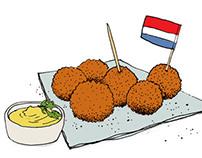 Dutch food illustrations