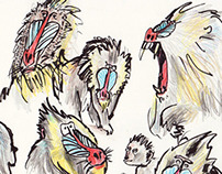 brush pen & pencil sketches