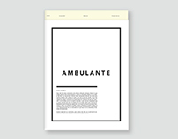 Ambulante Newsletter
