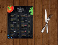 Modern One Page Bistro/Caffe Menu Template