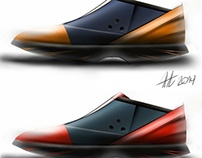 Shoe designs digital painting project