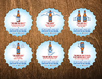 Moose Light Beer Coasters