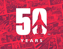 Thunderbirds 50th Anniversary Identity