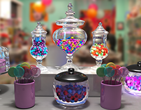 Candy Shop (Rendering & Lighting Project)