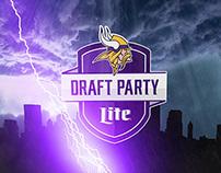 Minnesota Vikings Draft Party Graphic