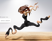 Ad campaign for a dance school