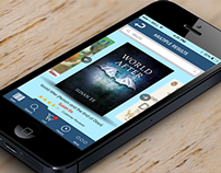 iOS 7 app design for Online Books Shopping