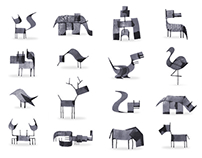 Calligraphy Animals